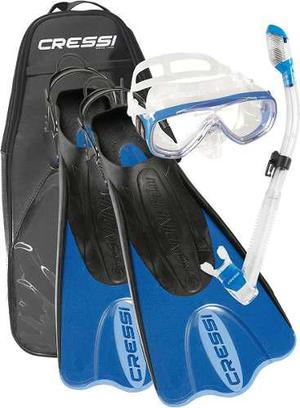Set Palau Bag Cressi Buceo, Snorkeling Envío Gratis!!
