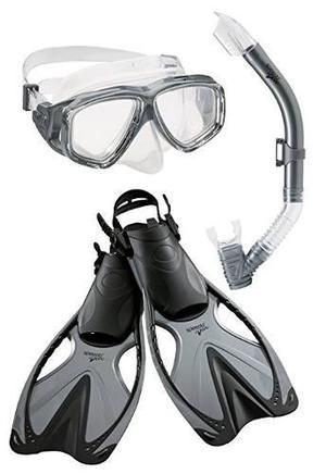 Speedo Aventura Adultos Máscara De Snorkel Fin Set