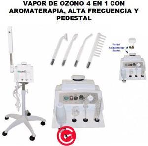 VAPOR DE OZONO 4 EN 1 CON AROMATERAPIA ALTA FRECUENCIA Y