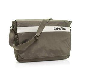 Calvin Klein Plancha 3.0 Laptop Messenger Bolsa, Marrón,