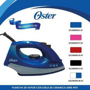 Plancha De Vapor Cerámica Serie 4950 Azul Oster Gcstbs4951l