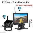Wireless Hd Night Vision Rear View Backup Camera+7 Monitor