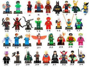 1 Figura Compatible Con Lego Deadpool Joker Harley Quinn