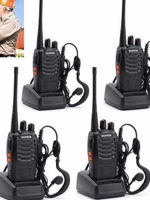 4 Radios Comunicación Portátil Baofeng 2 Vías Bf888s No