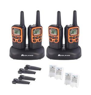 4 Radios Midland Walkie Talkie Plus Comunicación Audífonos