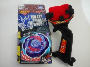 Beyblade Galaxy Pegasus Rapidity Metal Masters Lanzador