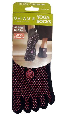 Calcetines Para Yoga Negros Puntos Rosas Talla Ch M G Gaiam