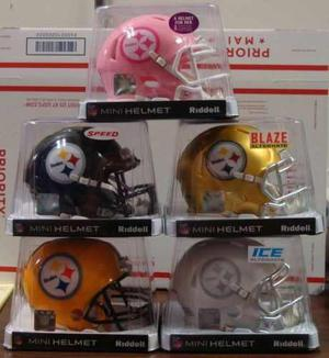 Colección 5 Mini Cascos Pittsburgh Steelers
