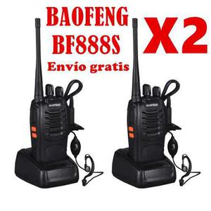 Conjunto De 2 Radios Portatil Baofeng Bf-888s Walkie Talkie
