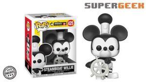 Funko Pop Disney - Mickey Mouse Steamboat Willie Envio (1)