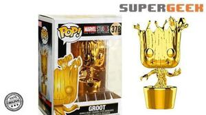 Funko Pop Marvel Groot Cromado Gold Chrome (1)