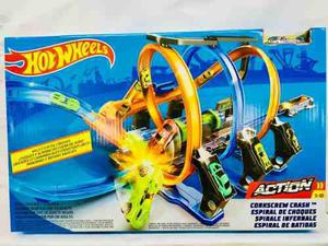 Hot Wheels Pista Espiral De Choques Y Acroacias Mattel