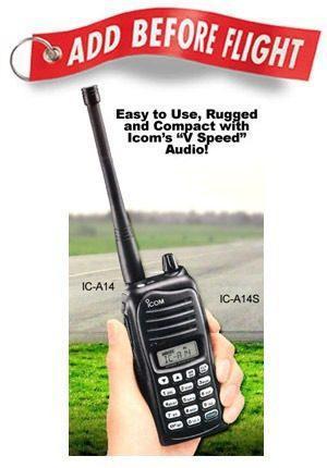 Icom Ic-a14 Radio Transmisor Y Receptor Para Aviacion Nuevo!