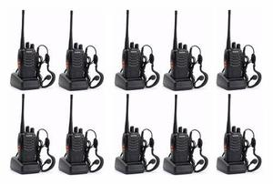 Oferta! 10 Radios Baofeng Bf-888s Walkie Talkie Uhf 2 Vias