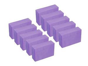 Pack 10 Pzas Bloque Ladrillo Yoga De Goma Eva (23x15x7 Cm)