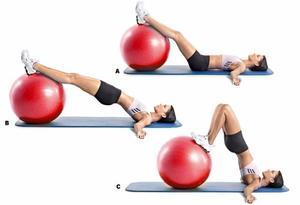Pelota De Pilates, Yoga De 65 Cm Naranja / Incluye Bomba