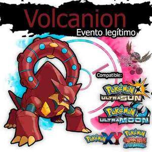 Pokémon Volcanion De Evento Especial Sol, Luna, X, Y, Or,
