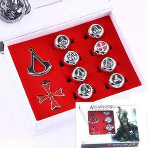 Set 10 Anillos Collar Assassins Creed Cosplay Envio Gratis