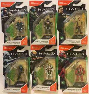 Set 6 Figuras Mega Construx Halo Heroes Serie 7 Nuevas