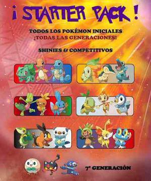 Starter Pack - Todos Los Pokémon Iniciales - Sol Luna 3ds!