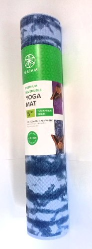 Tapete Para Yoga Premium Reversible Azul Morado 5mm Gaiam