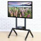 Tv Cart For Lcd Led Flat Screen Mount Stand W/ Mobile Wheels