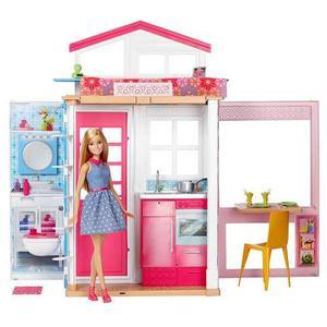 Barbie Casa Glam Fab Life 2 Pisos Plegable Con 1 Muñeca
