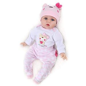 Bebe Reborn Recién Nacido Muñeca De Silicona Suave 55 Cm