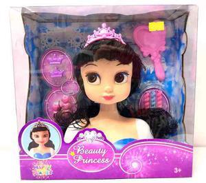 Cabeza De Muñeca Para Peinar Tipo Princesas Juguetes
