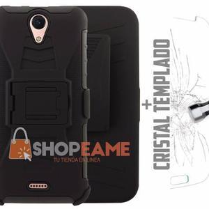 Case Protector Uso Rudo 3 En 1 Clip + Cristal Lanix Lt520