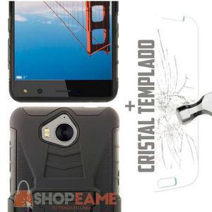 Case Uso Rudo Con Clip + Cristal Huawei Y5 2017 Y5 Pro