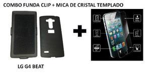 Combo Funda Clip Lg G4 Beat / Mini + Mica De Cristal Templad