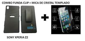 Combo Funda Clip Sony Xperia Z2 + Mica De Cristal Templado