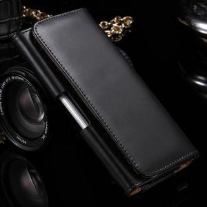 Funda Clip Cinturon De Lujo Negro Para Samsung Galaxy S9