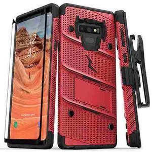 Funda Galaxy Note 9 Zizo Bolt Holster Clip Cristal Curvo