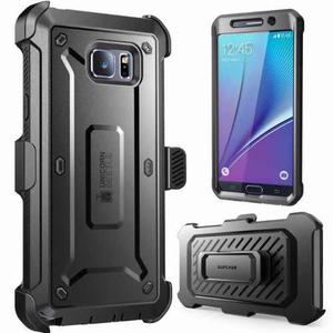 Funda Holster Clip Galaxy Note 5 Supcase Unicorn Con Mica