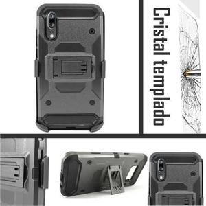 Funda Huawei P20 Pro Mate 10 Lite Y5 Clip Uso Rudo + Cristal