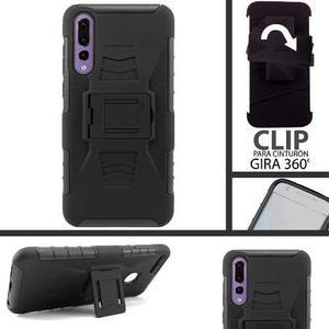 Funda Huawei P20 Pro Protector Uso Rudo Resistente Clip
