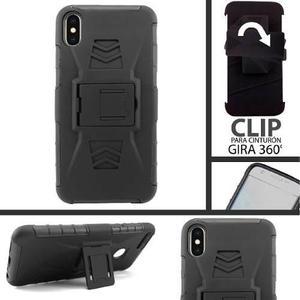 Funda Iphone Xs Max Protector Uso Rudo Clip Resistente