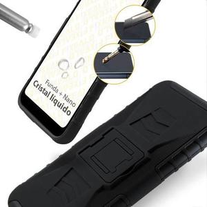 Funda Motorola Moto One / P30 Play Uso Rudo Clip + 2 Mica