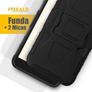 Funda Protector Uso Rudo Clip + 2 Micas Samsung Note 5 N920