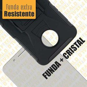 Funda Protector Uso Rudo Clip Case + Cristal Mica Moto X4