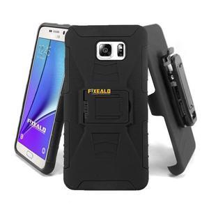 Funda Protector Uso Rudo Clip + Cristal Samsung Note 5 N920