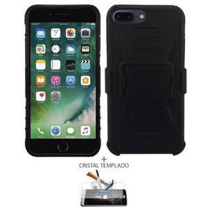 Funda Protector Uso Rudo Con Clip Y Cristal Iphone 7 Plus