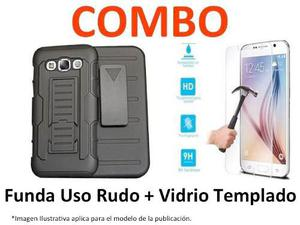 Funda Protector Uso Rudo + Mica Samsung S8 Plus