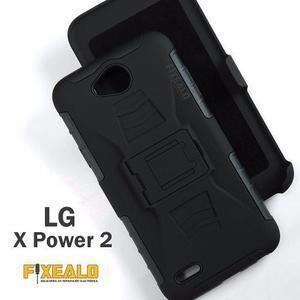 Funda Protector Uso Rudo Resistente Case Clip Lg X Power 2