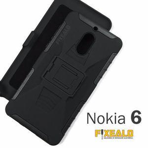 Funda Protector Uso Rudo Resistente Case Con Clip Nokia 6
