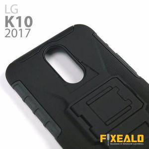 Funda Protector Uso Rudo Resistente Clip Lg K10 2017 M250