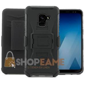 Funda Samsung A6 A8 Plus 2018 Uso Rudo Clip + Mica Cristal