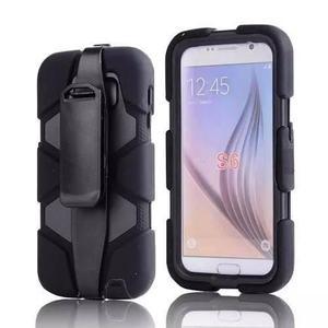 Funda Tipo Survivor Antigolpes Galaxy S6 Clip Uso Rudo Blanc
